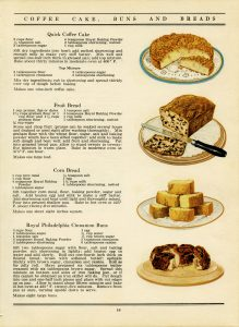 free vintage printable cookbook recipe page cake bread