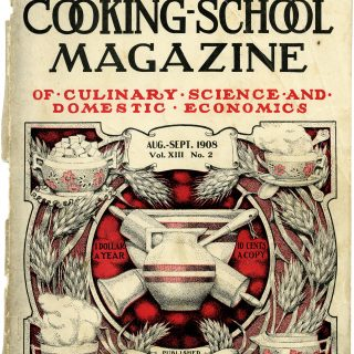 magazine cover, aged paper, junk journal printable, vintage kitchen, old book page