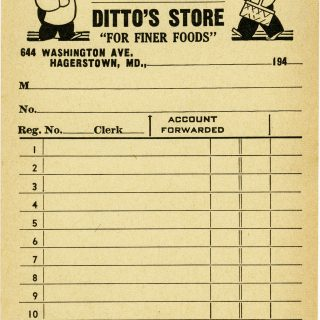 free printable vintage grocery store receipt