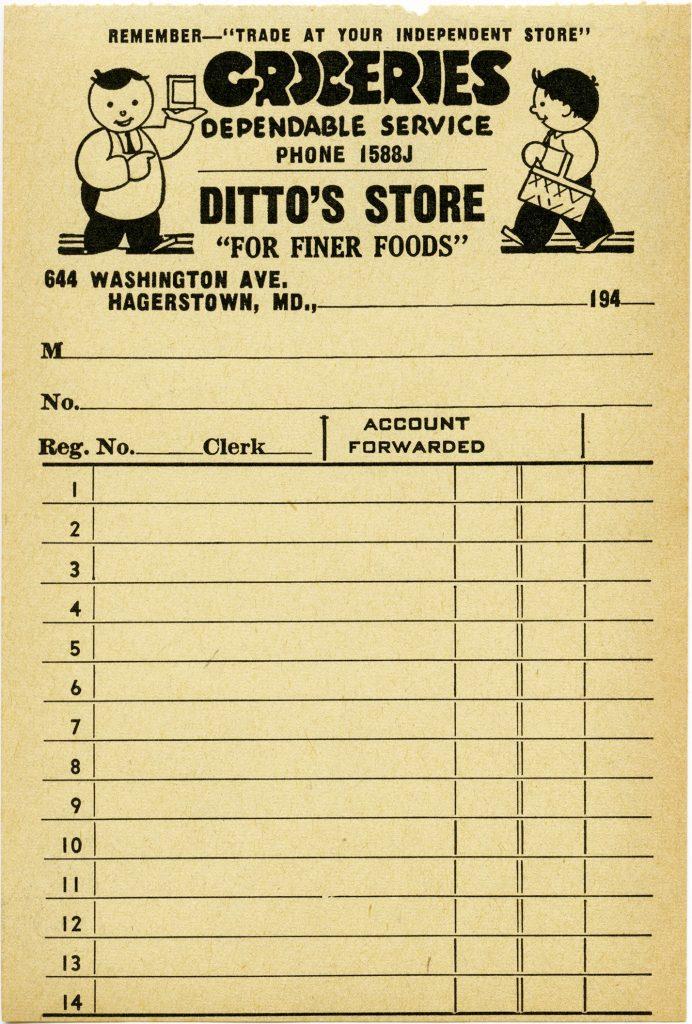 free vintage printable grocery store receipt