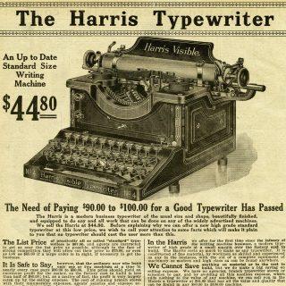 Free Vintage Graphics Harris Typewriter