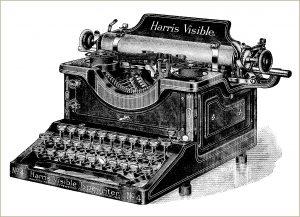 Free Vintage Clip Art Typewriter Illustration