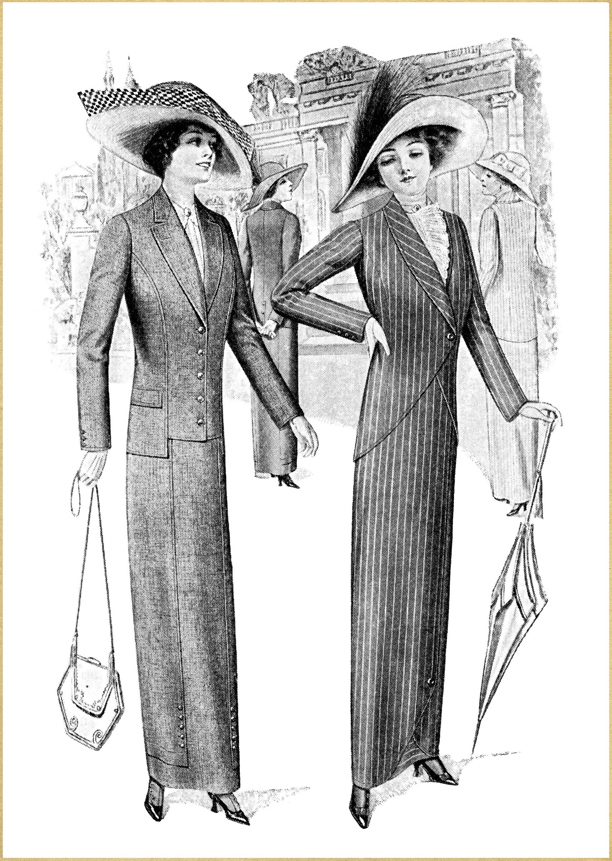 Les Parisiennes Fashion Plates Advertisement Old Design