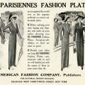 free vintage clip art Paris fashion plates advertisement