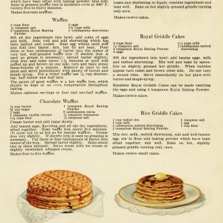 free vintage printable cookbook recipe page waffles pancakes