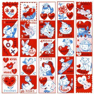 Free Vintage Clip Art Valentine Stamps
