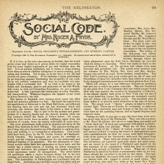 social code magazine article