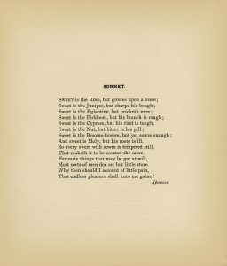 free vintage printable poem sonnet by spenser