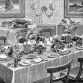 free vintage kitchen printable Mrs Beeton table setting breakfast