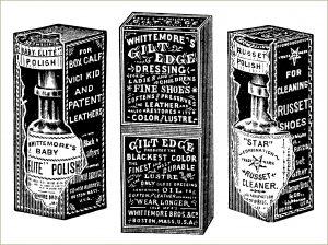 free vintage shoe polish clip art