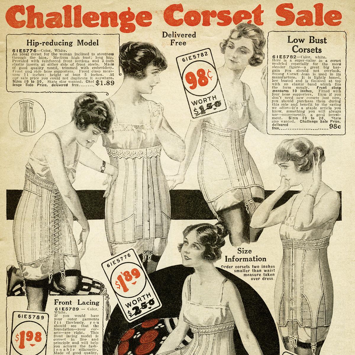 free vintage printable corsets catalog page