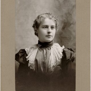 Free vintage clip art young Victorian lady cabinet card photo