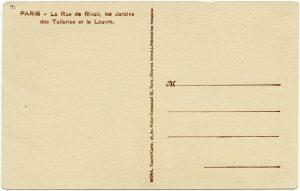 free vintage French postcard back