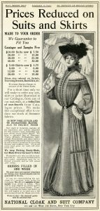 Free vintage Victorian ladies clothing magazine advertisement