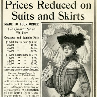 Free Vintage Woman's Clothing Clip Art Ad