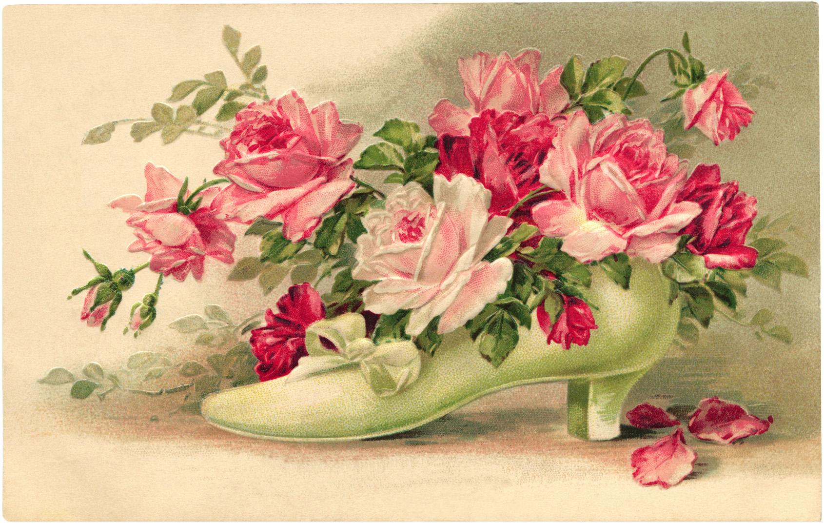 аналог фото старинных открыток с цветами помните
