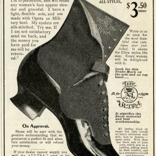 Free vintage Victorian shoe magazine advertisement