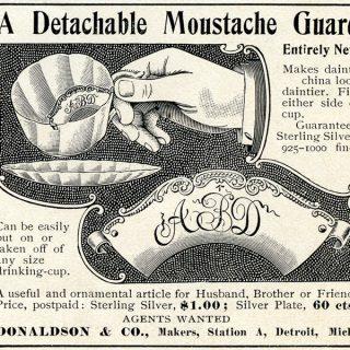 Free Vintage Clip Art Moustache Guard Ad