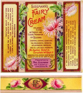 Free vintage clip art Phil Eisemann's Fairy Cream Label