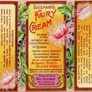 Free Vintage Clip Art Fairy Cream Label