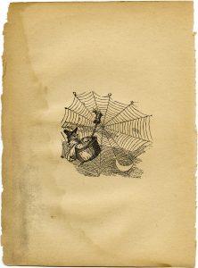 Free vintage clip art mother goose witch illustration