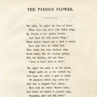 Free vintage poetry Barry Cornwall The Passion Flower