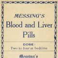 Free vintage clip art medicine pharmacy label Messings blood liver pills