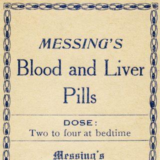 Free vintage clip art medicine pharmacy label Messings blood liver pills