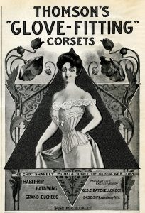 Free vintage Victorian corset magazine advertisement