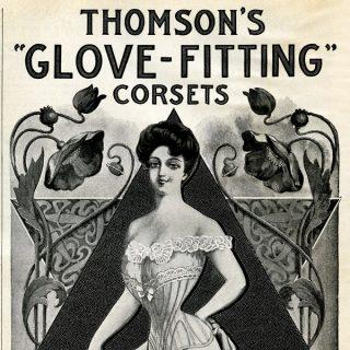 Thomson's Glove Fitting Corset Ad Free Clip Art