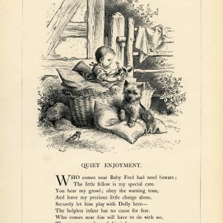 Free Vintage Poem Quiet Enjoyment Oscar Pletsch engraving