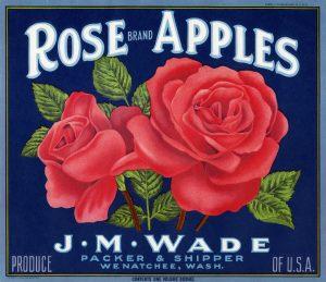 Free vintage crate label clip art rose brand apples