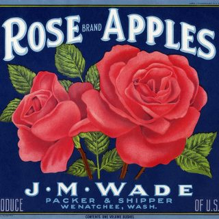 Free vintage crate label clip art rose brand apples