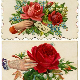 Free Vintage Clip Art Victorian Calling Cards