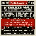 Free vintage clip art medical label R. DeAngelis