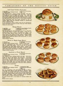 Free vintage clip art biscuit recipes old cookbook page