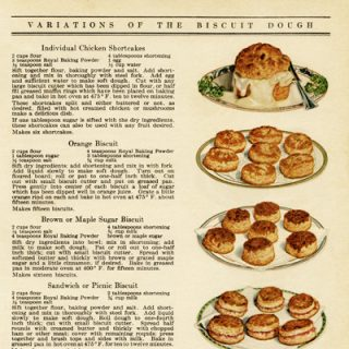 Free vintage clip art biscuit recipes old cookbook page
