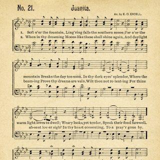 Free Vintage Clip Art Sheet Music Juanita