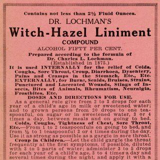 Witch Hazel Liniment Free Vintage Clip Art