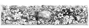 Fall harvest vintage clip art illustration