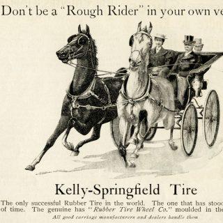 Kelly Springfield Vintage Magazine Tire Ad