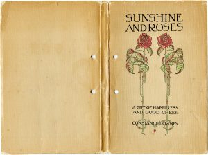 aged vintage book cover clip art sunshine and roses