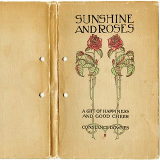 Vintage Book Cover Sunshine and Roses