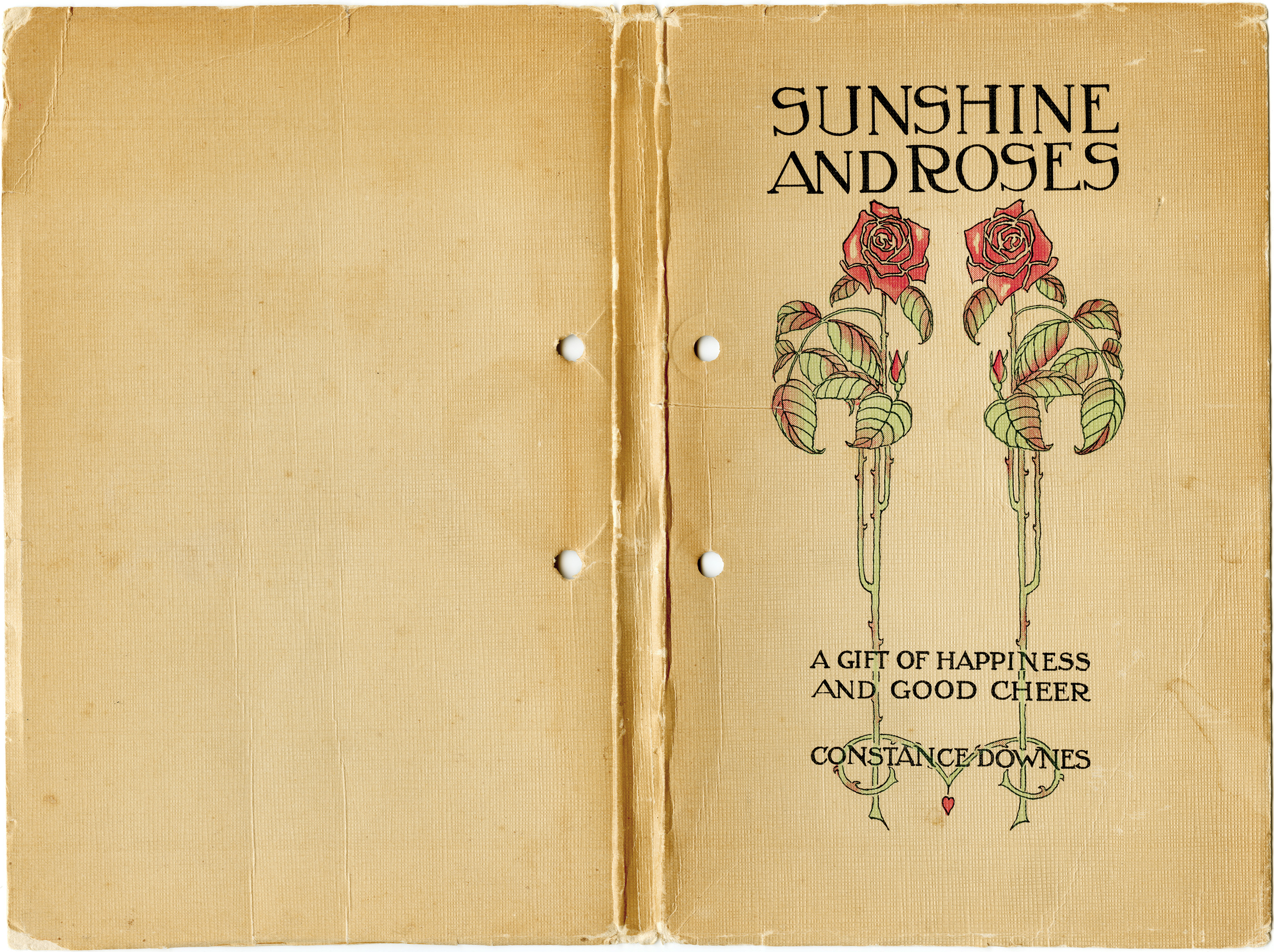 Vintage Book Cover Illustration : Vintage book cover sunshine and roses old design shop