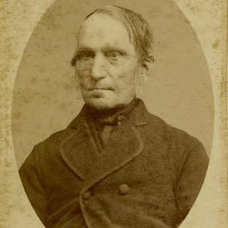 Stern Man Shabby Vintage Photo