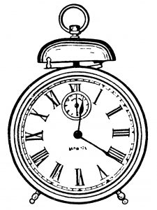 Free vintage alarm clock clip art illustration
