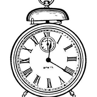 Vintage Alarm Clock Clip Art