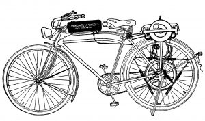 free vintage printable bicycle motorcycle clip art