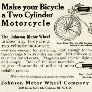 free vintage printable magazine ad bicycle motorcycle