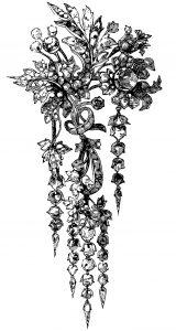free vintage clip art ornamental victorian brooch